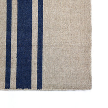 Load image into Gallery viewer, BEACHWOOD HANDWOVEN RUG - NATURAL/NAVY