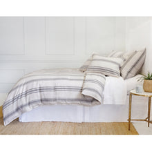 Load image into Gallery viewer, JACKSON - FLAX/MIDNIGHT DUVET COVERS & SHAMS