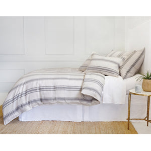 JACKSON - FLAX/MIDNIGHT DUVET COVERS & SHAMS