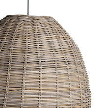 "Load image into Gallery viewer, Mason Pendant Rattan (Kuboo Grey) Metal Frame31""w x 28""h"