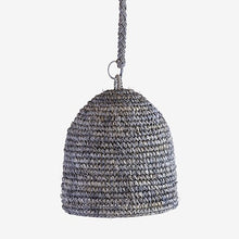 Load image into Gallery viewer, Anika Woven Raffia Pendant - Grey, Small