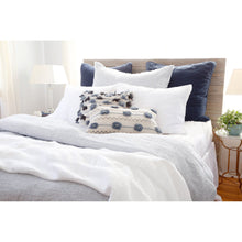 Load image into Gallery viewer, LOGAN - NAVY DUVET COVERS AND SHAMS