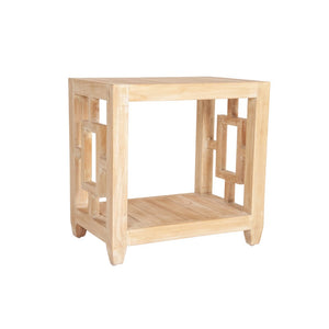 Madison Rectangular Side Table, Natural