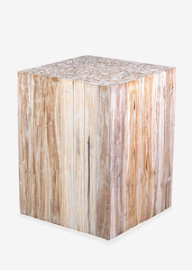 "Grayson 24"" accent table - White Wash"
