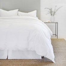 Load image into Gallery viewer, PARKER COTTON PERCALE DUVET COVER SET - WHITE