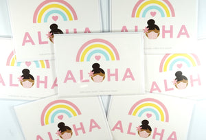 Rainbow Aloha Mask Card