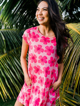 Load image into Gallery viewer, Hot Pink Hibiscus—Dress Maila