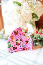 Load image into Gallery viewer, Pink Mickey & Minnie Holiday Treats Mask