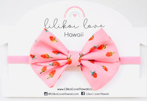 Pink Strawberry Bow