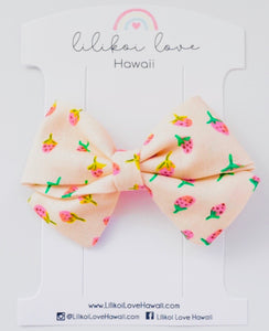 Strawberry Blush Bow