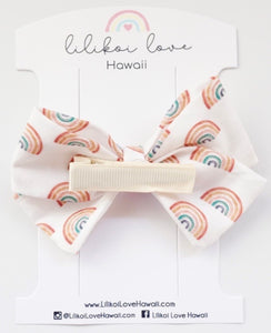 Retro Rainbow Bow