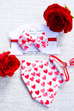 Load image into Gallery viewer, Red Hearts Bow