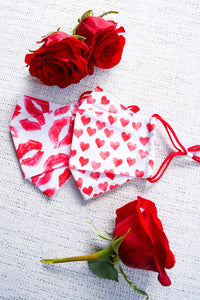 Red Hearts Origami Mask