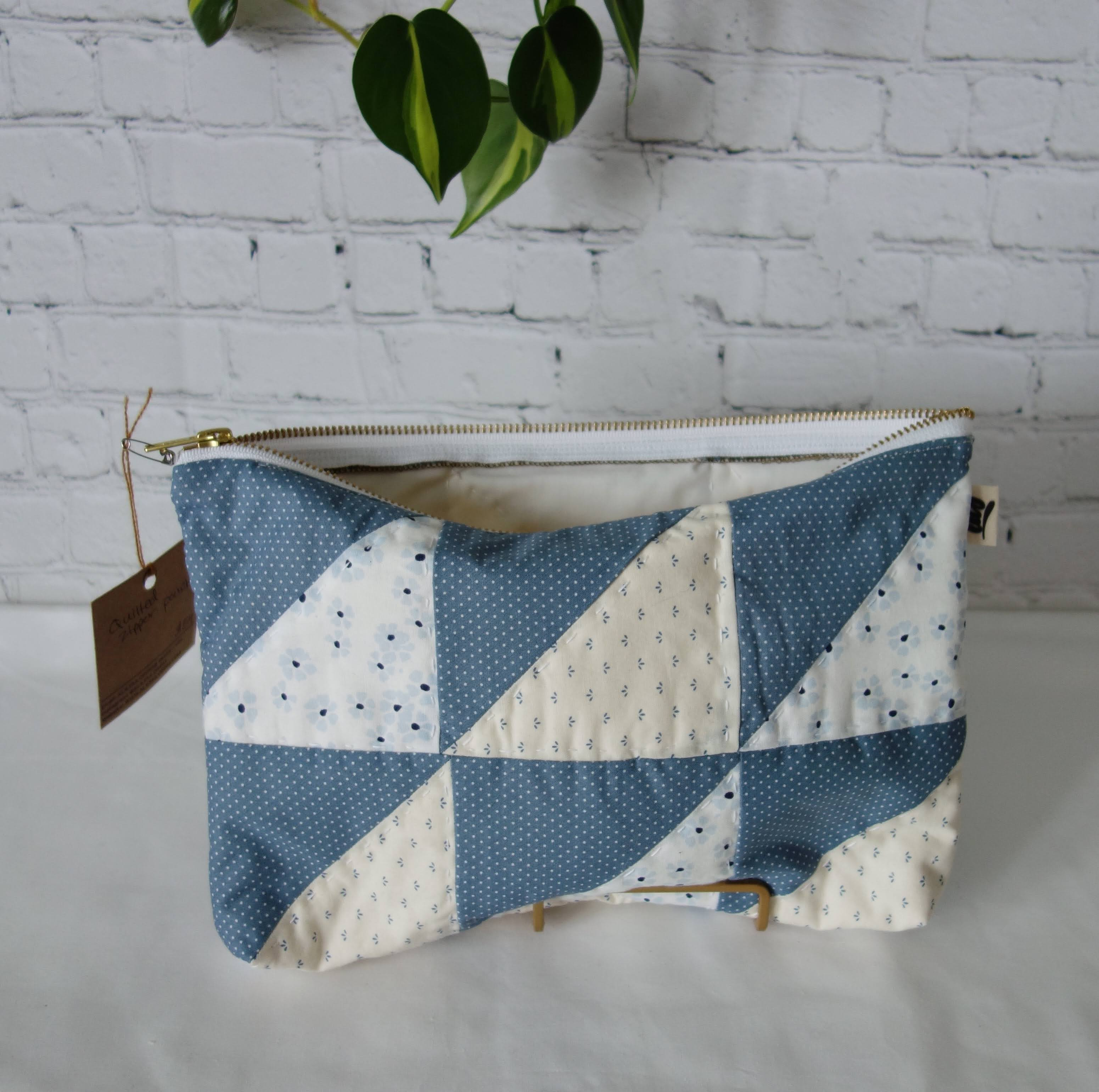 Quilted Zipper Pouch