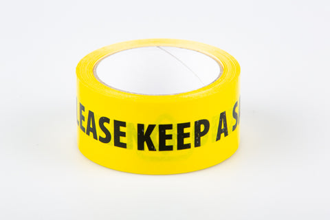 2 Metres Safe Distancing - Floor Tape