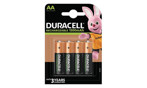 Duracell Rechargeable AA 4 Pack 1300mAh