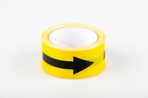 Safe Distance Black/Yellow Arrows Warning - Floor Tape