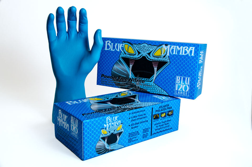 Black Mamba 'Blue' Nitrex Gloves
