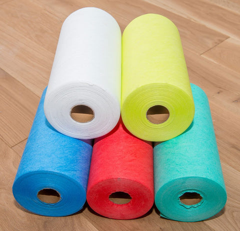 Disposable Microfibre Wipes On a Roll