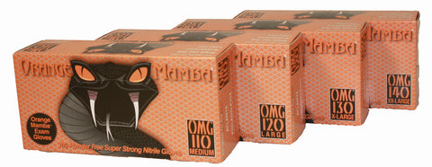 Black Mamba 'Orange' Nitrile Gloves
