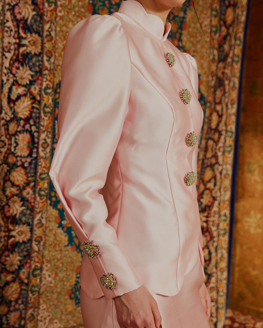 AFRA - KURUNG MODERN WITH SCALLOP EDGE DETAIL AND CLUSTER BEADWORK