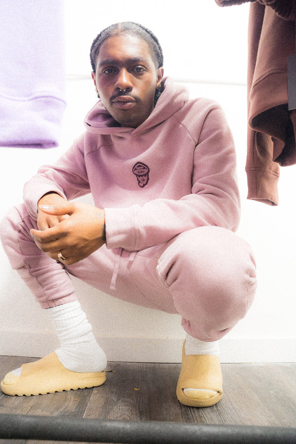 salmon sweat suit