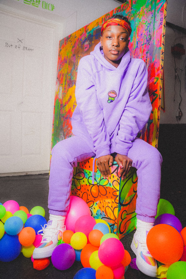 paisley pastel sweat suit
