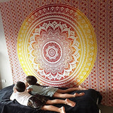 Large Mandala Indian Tapestry Wall Hanging Bohemian Beach Mat Polyester Thin Blanket Yoga Shawl Mat 200x150cm Blanket