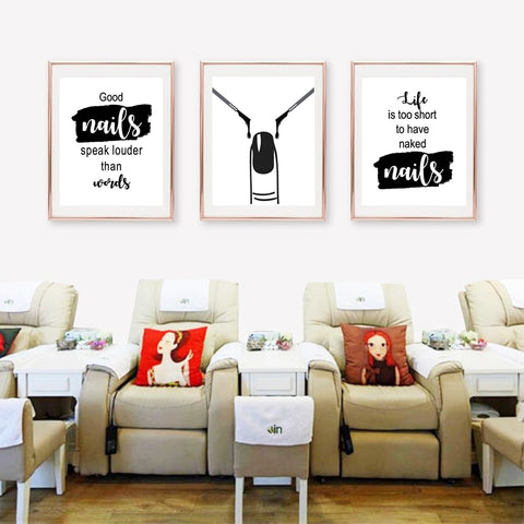 Nail Art Beauty Salon Wall Decor Nail Salon Wall Art Canvas Painting Nail Polish Quotes Posters And Prints Nail Tech Artist Gift