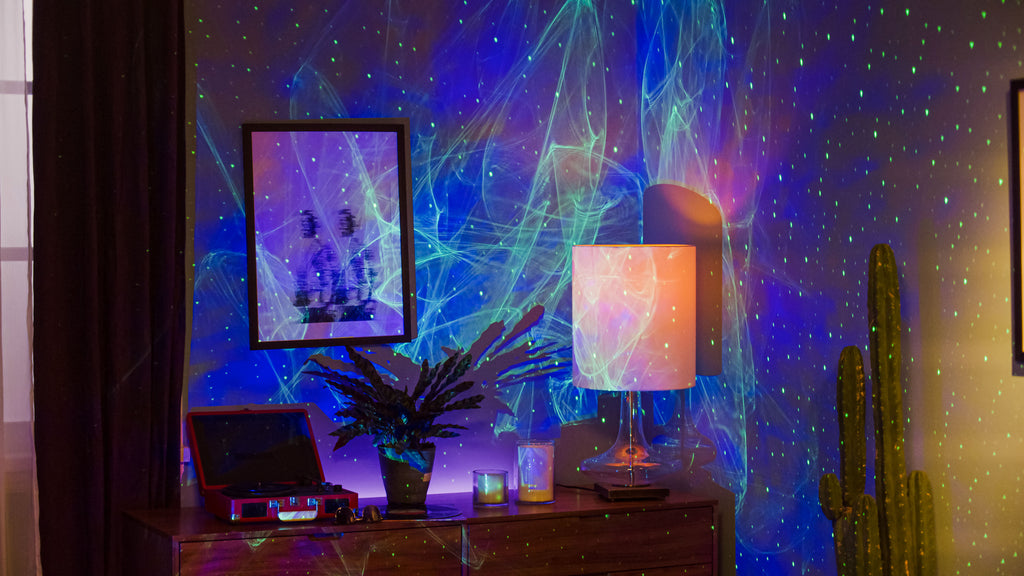 cozy northern lights ambience with ark aurora projector