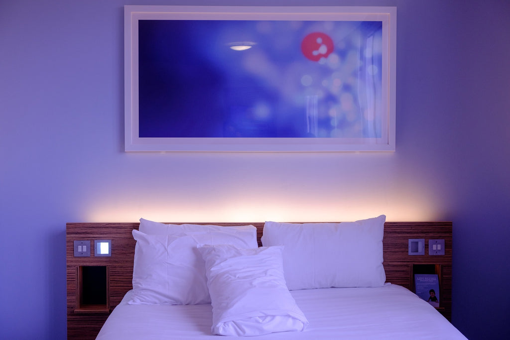 bed with led backlighting