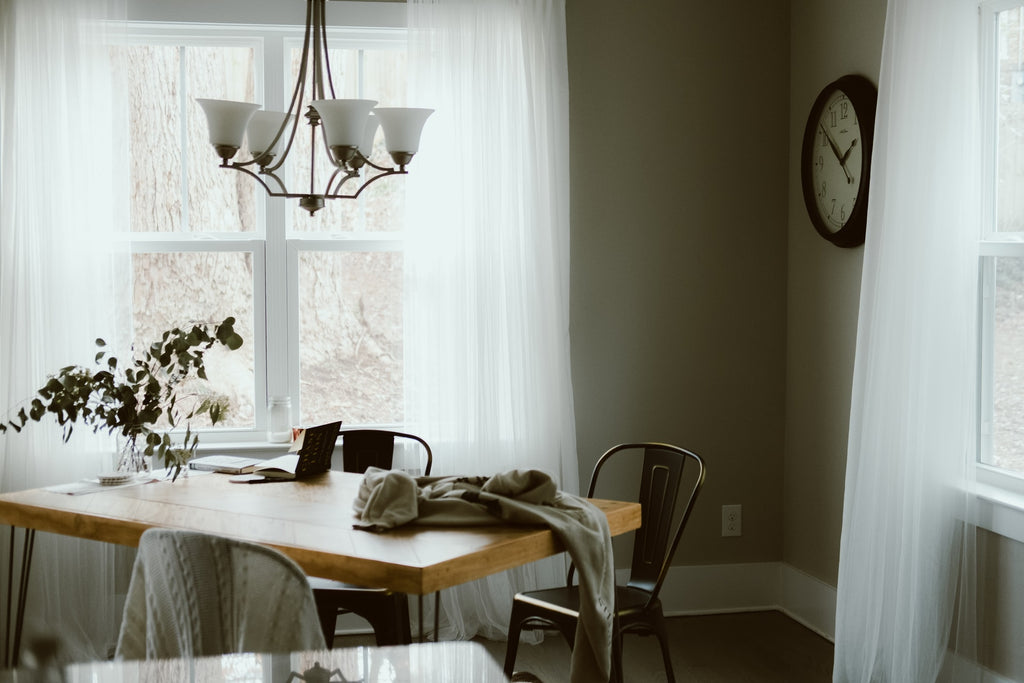 dining room with natural lighting