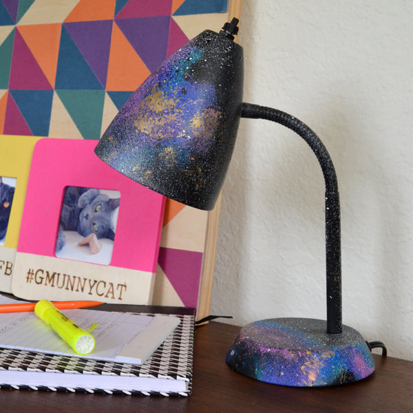 painted galaxy desk lamp