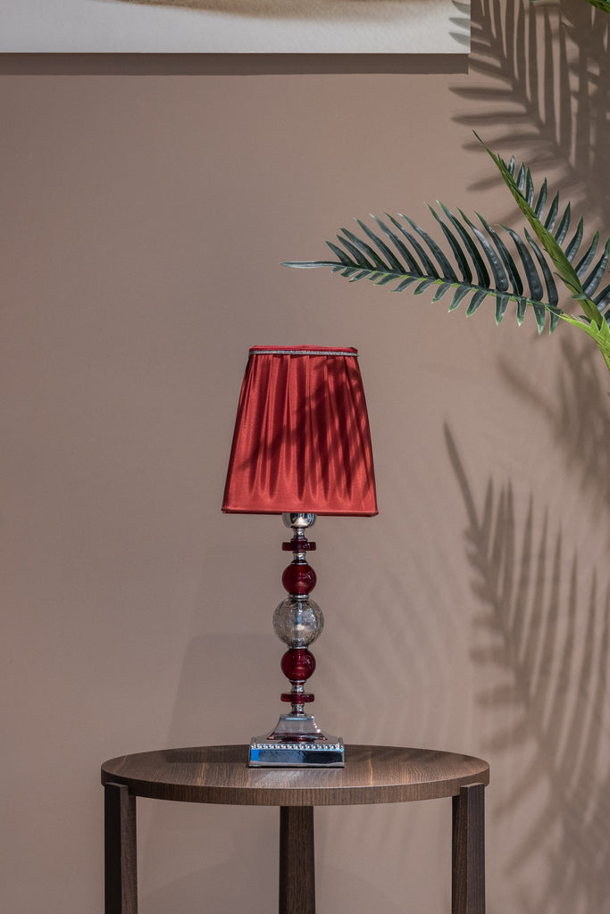 red colorful lampshade