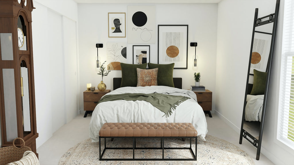 bedroom with accent lighting