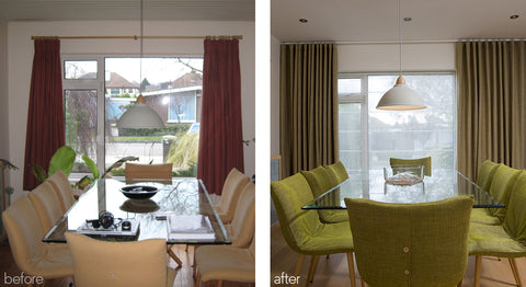 before/after window treatment