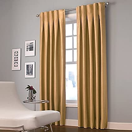 gold curtains