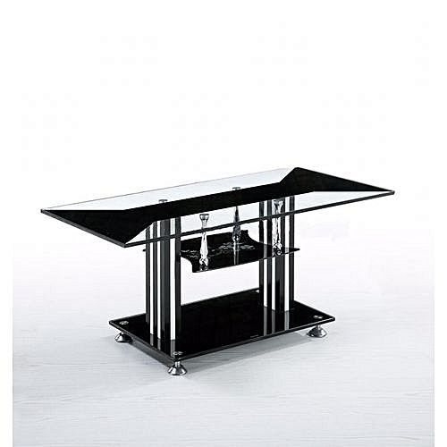Black glass Center table