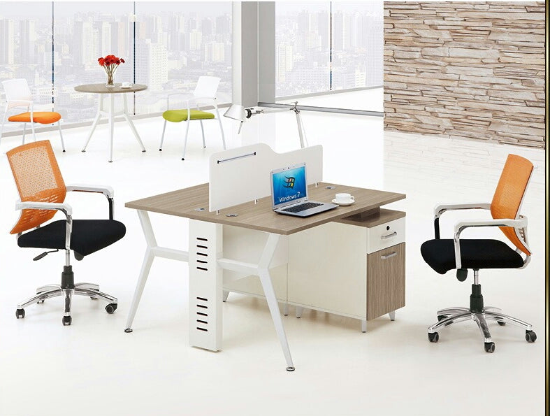 2  Seater White Workstation desk
