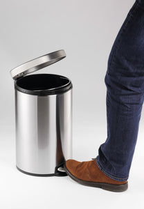 20 litre steel foot pedal waste bin