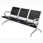 Load image into Gallery viewer, 3-SEATER LEATHER PADDED RECEPTION AIRPORT WAITING OFFICE CHAIR
