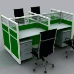 4 seater workstation with chairs