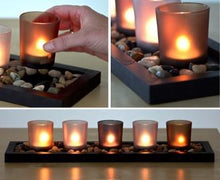 Load image into Gallery viewer, 5 piece glass candle wax cup