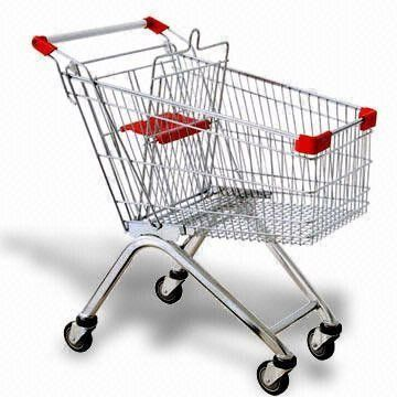 60 litres shopping cart supermarket trolley