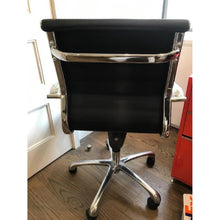 Load image into Gallery viewer, White/black mid back leather Chair