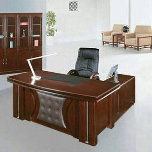 Executive office desk with extension