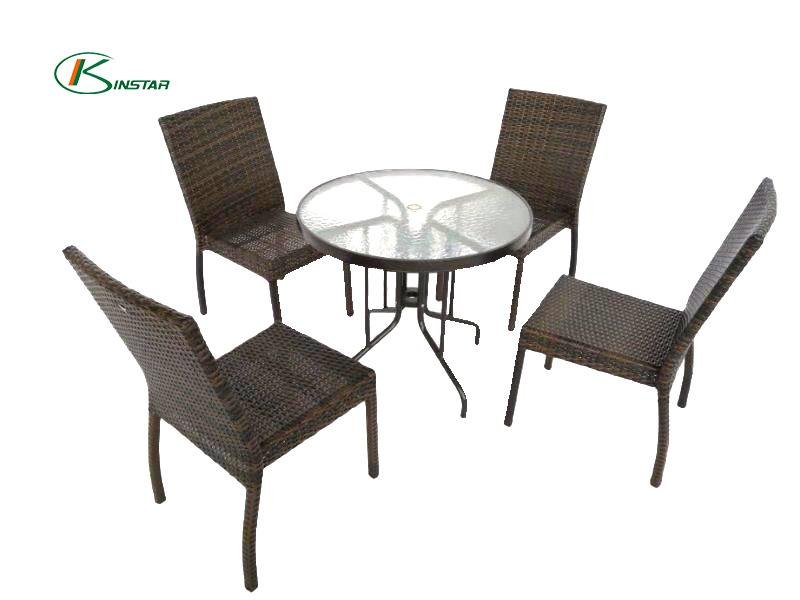 Glass table Outdoor dining set