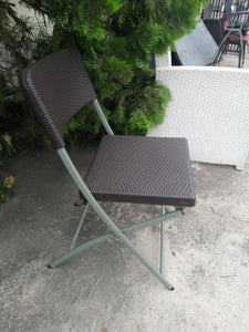 Rattan look plastic foldable chair