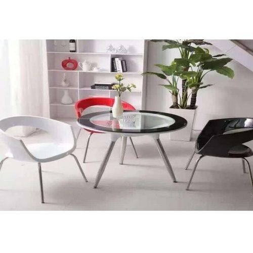 Round tempered glass table