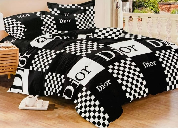 Black dior bedding set